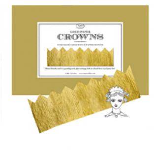 Gold Tissue Paper Crown