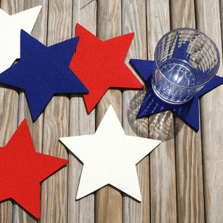 Fourth of July Star Drink Coaster Set Coasters for Drinks