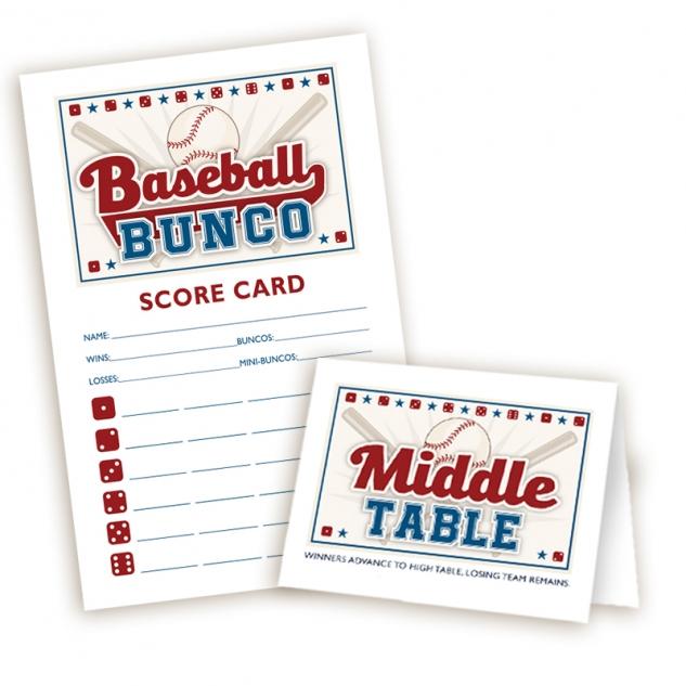 Baseball Bunco set