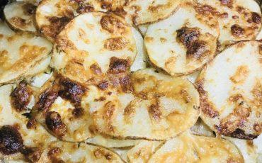 Cast Iron Gruyere Scalloped Potatoes