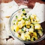 pineapple mint salsa