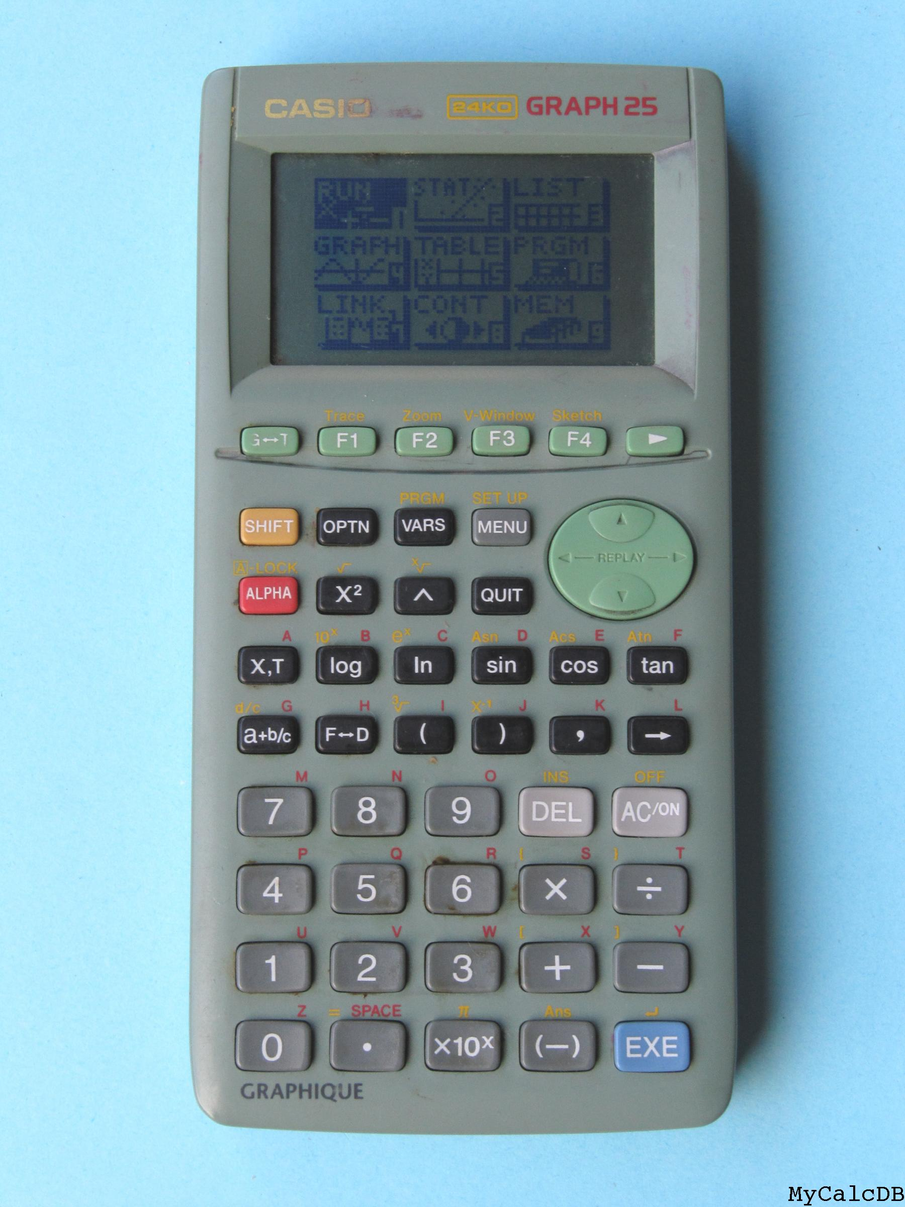 Calculatrice Casio Graph 25+ : calculatrice, casio, graph, MyCalcDB, Calculator, Casio, GRAPH