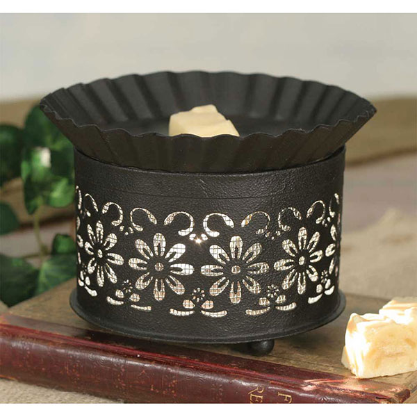 SHORT ROUND WAX WARMER -DAISY