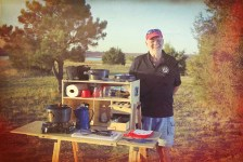 My Camp Kitchen Founder Richard Snogren with Patrol Box for Scouting