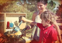 My Camp Kitchen: Family Outdoor Cooking Experience with the Summit (Mom and Son)
