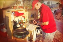 Richard Snogren Conducting a My Camp Kitchen Cooking Demonstration