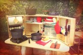 My Camp Kitchen Summit with Cooking Gear