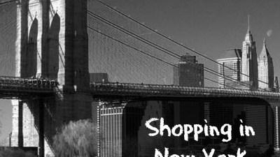 Shopping in New York City