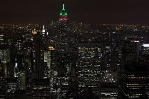 manhattan topofthe rocks night