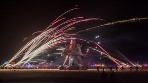 Burning Man Festival Night