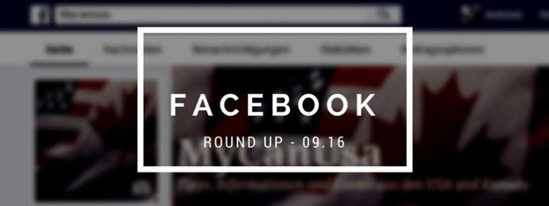 Facebook Round Up 09/2016