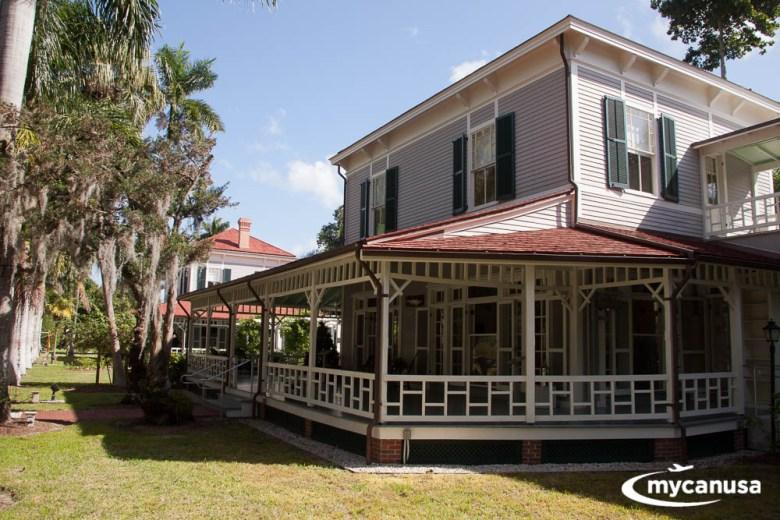 Wohnhaus auf dem Edison Ford Winter Estates, Florida