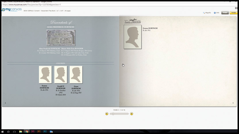 family history book examples