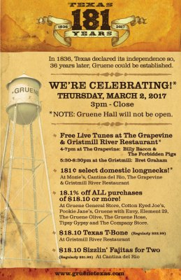 Texas Independence Day @ Historic Gruene | New Braunfels | Texas | United States