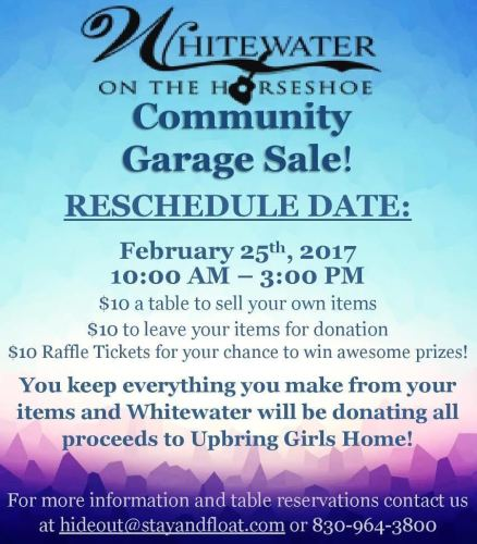 Whitewater Community Garage Sale @ Whitewater on the Horseshoe | New Braunfels | Texas | United States
