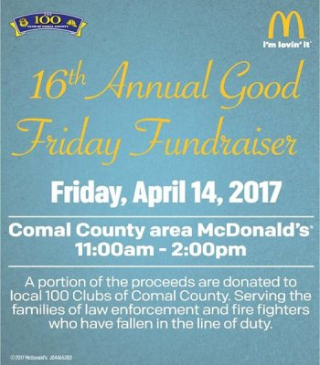 16th Annual Good Friday Fundraiser @ McDonald's | Canyon Lake | Texas | United States
