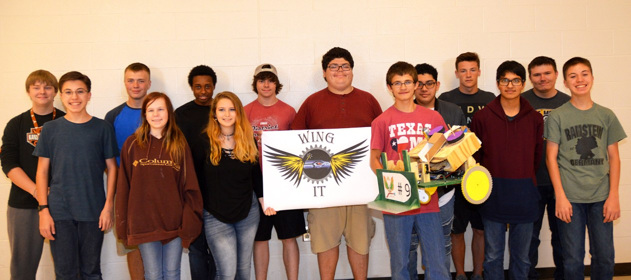 Canyon Lake High School's robotics team.