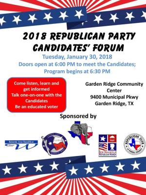 2018 Republican Party Candidates' Forum @ Garden Ridge Community Center | San Antonio | Texas | United States