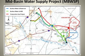 mid-basin water supply project map