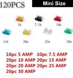 awesome diy 120pcs car mini low profile fuse box 5 7 5 10 15 20 25 30 amp universal 2017 2018 [ 1200 x 1200 Pixel ]