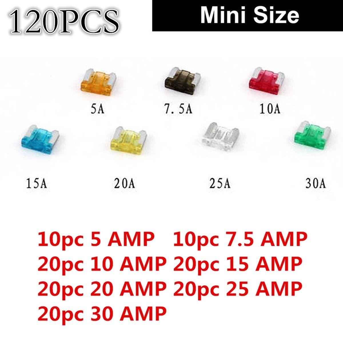 hight resolution of awesome diy 120pcs car mini low profile fuse box 5 7 5 10 15 20 25 30 amp universal 2017 2018