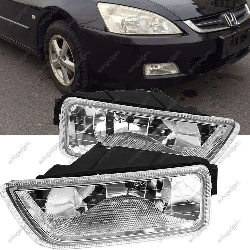 small resolution of amazing for 2003 2007 honda accord 4dr sedan clear per driving fog lights lh rh pair