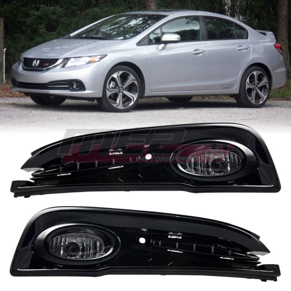 medium resolution of awesome for 2013 2015 honda civic oe factory fit fog light bumper wiring kit clear lens 2018 2019