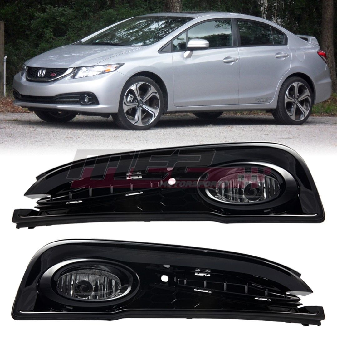 hight resolution of awesome for 2013 2015 honda civic oe factory fit fog light bumper wiring kit clear lens 2018 2019
