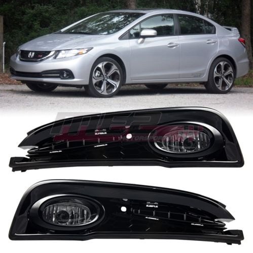 small resolution of awesome for 2013 2015 honda civic oe factory fit fog light bumper wiring kit clear lens 2018 2019