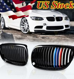 amazing glossy black m color kidney grille for bmw 2007 2010 e92 e93 328i 335i 2 door 2018 [ 1000 x 1000 Pixel ]
