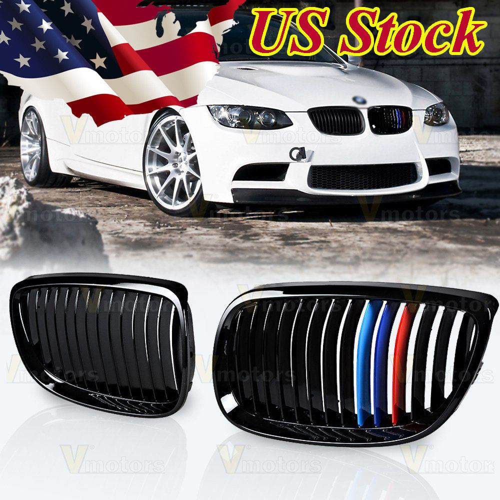 hight resolution of amazing glossy black m color kidney grille for bmw 2007 2010 e92 e93 328i 335i 2 door 2018