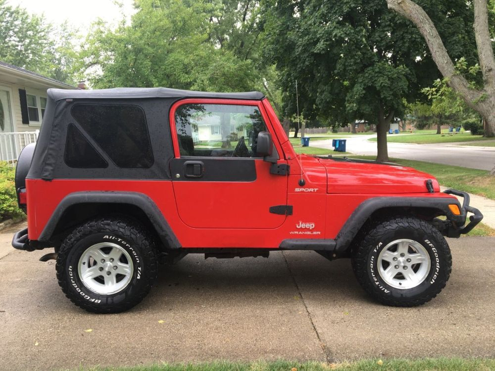 medium resolution of amazing 2004 jeep wrangler sport 2004 jeep wrangler sport 4 4 4 0l 6 cyl 5 spd manual dual tops no reserve 2019