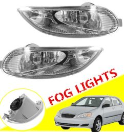 great for 2002 04 toyota camry 2005 2008 corolla bumper fog lights lamps 2018 [ 1200 x 1200 Pixel ]