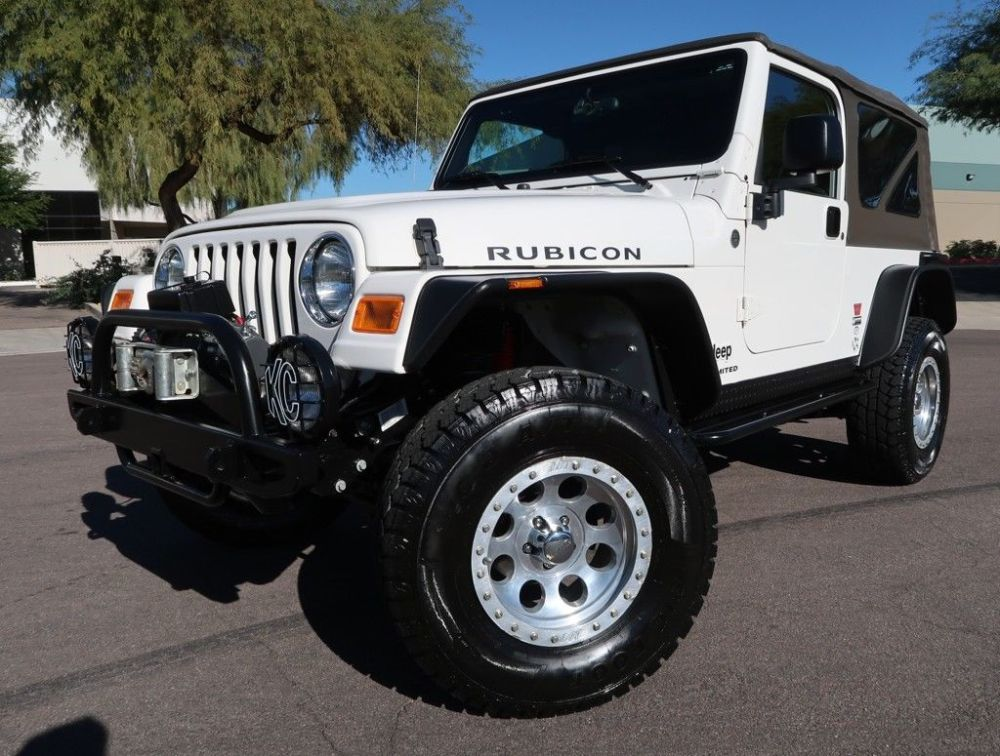 medium resolution of amazing 2006 jeep wrangler unlimited rubicon lj rubicon unlimited lj 28k miles white lifted automatic very rare 2004 2005 2007 2018