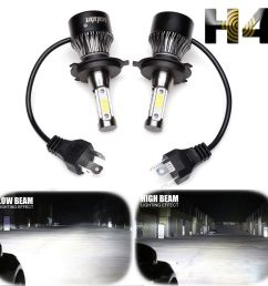 great cree h4 hb2 9003 1800w 270000lm 4 sides led headlight kit hi lo power bulb 6000k 2019 [ 1600 x 1600 Pixel ]