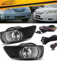 amazing for 2007 2008 2009 toyota camry clear bumper fog lights lamps switch wiring pair 2019 [ 1000 x 1000 Pixel ]