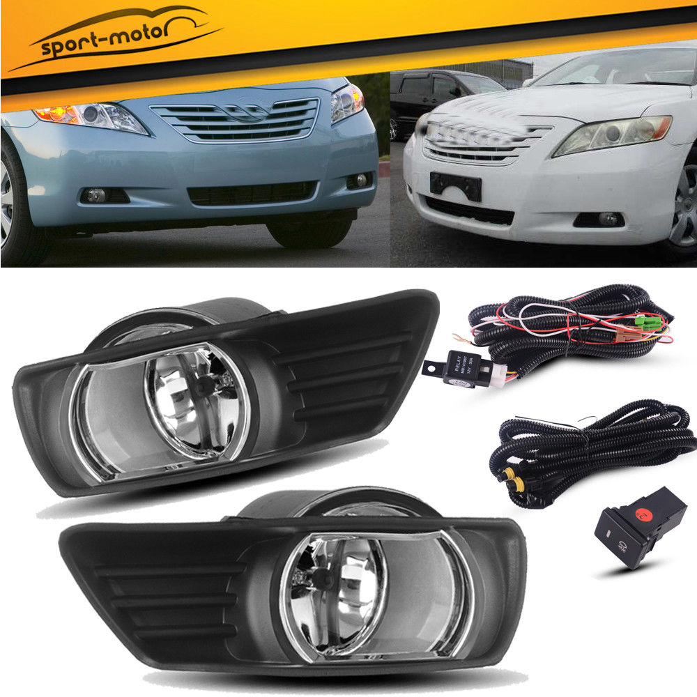 hight resolution of amazing for 2007 2008 2009 toyota camry clear bumper fog lights lamps switch wiring pair 2019