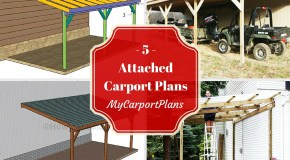 5 Free Attached Carport Plans