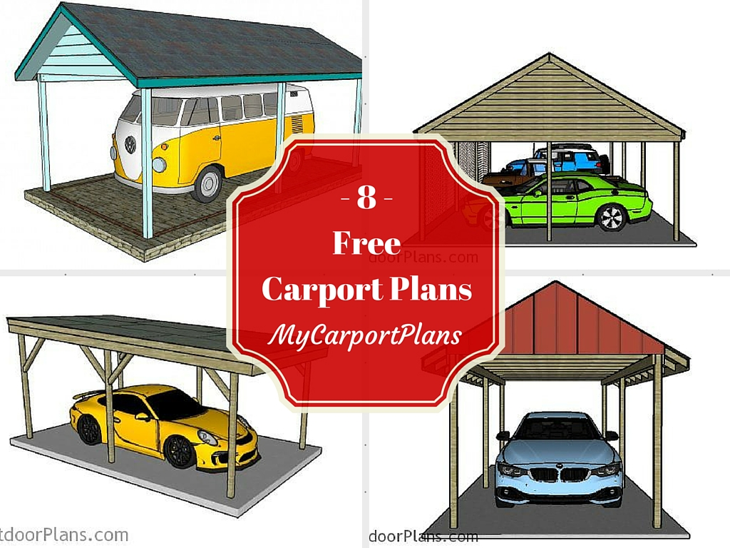 8 free carport plans for 2 car carport plans free