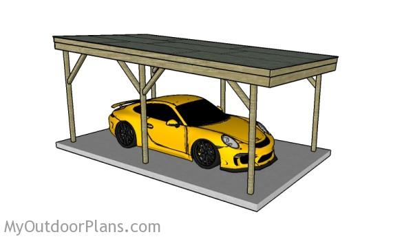 8 free carport plans for Rv storage building plans free