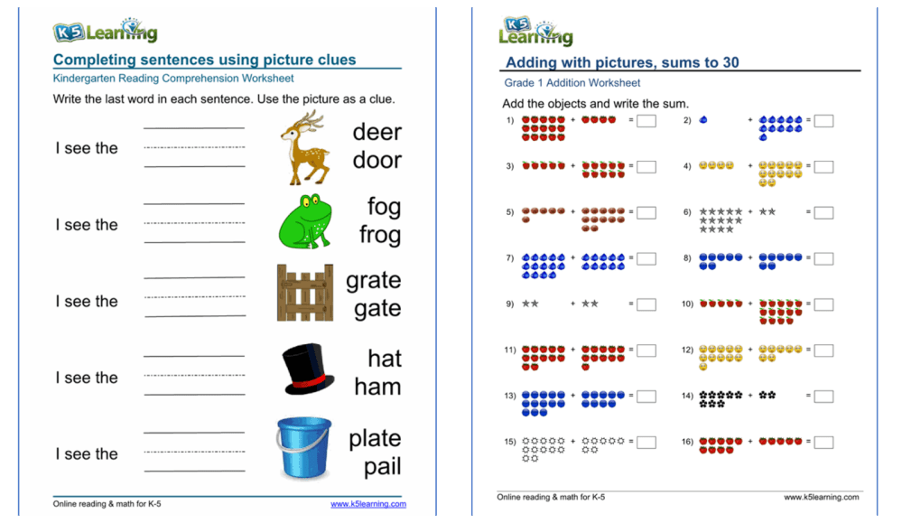 medium resolution of Get Free Online Kids' Lessons and Worksheets with K5 Learning - Myce.com