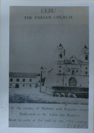 "Parian Church, according to ""Ang Sugbo sa Karaang Panahon"", ""has never been surpassed by any other church that has been built in Cebu, such as the Cathedral, the Seminary and San Nicolas."" (PHOTO USED WITH PERMISSION FROM THE CEBUANO STUDIES CENTER)"