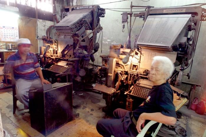 Linotype operators