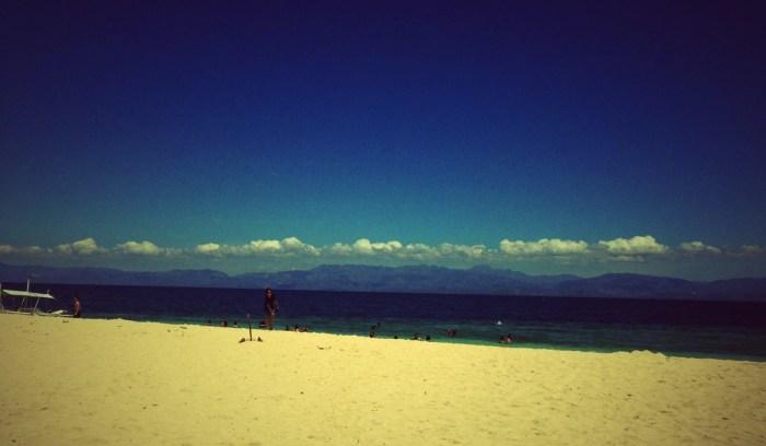 White sand beach in Basdako, Moalboal, Cebu