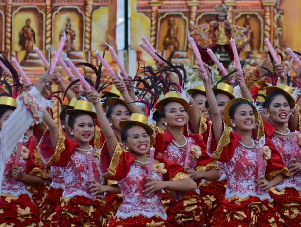 Tangub City's Tribu Sinanduloy will portray the deep faith and hopefulness of Pinoys in this Sunday's Sinulog Grand Parade entry. Photo is of the group's performance last year.  (Photo by Alex Badayos)