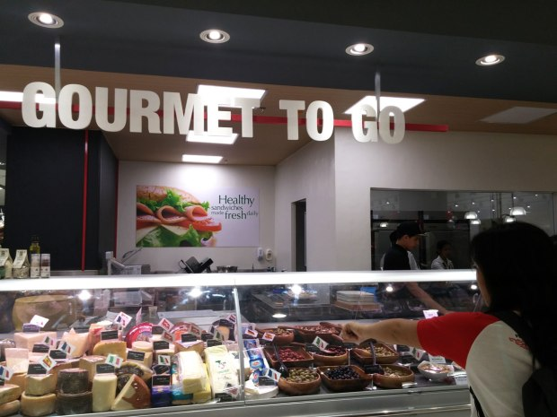 Gourmet To Go offers prepared healthy salads and sandwiches.