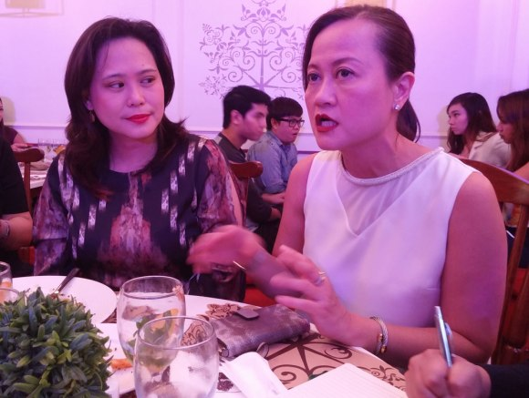 Pancake House Group executives (R) Bernadette Lee, chief operating officer, and Ruby R. Bautista, marketing director.