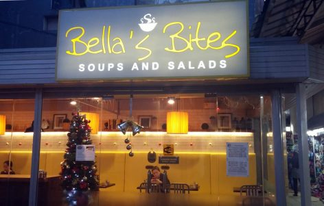 Bella's Bites Soups and Salads is located in Marina Mall in Pusok, Lapu-Lapu City.