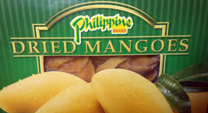 Philippine Brand. This brand of dried mangoes is among the most popular in the market.