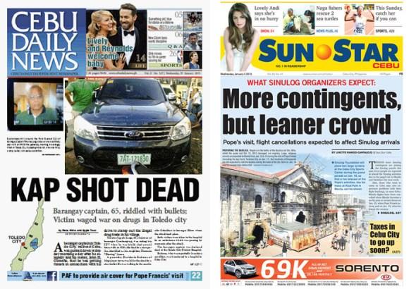Cebu Daily News and Sun.Star Cebu